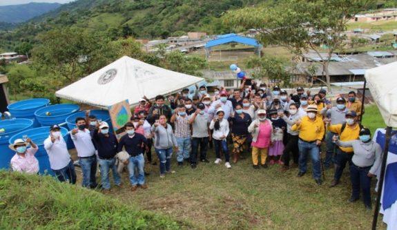 El agua potable es una realidad en los territorios cafeteros Nespresso AAA del Macizo Caucano